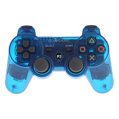 goigame spel trådlösa bluetooth controller för ps3 pc (transparent blå)