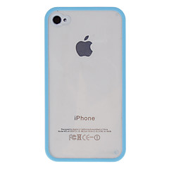 Quality Transparent Case with Solid Color Bumper Frame for iPhone 4/4S (Assorted Colors)