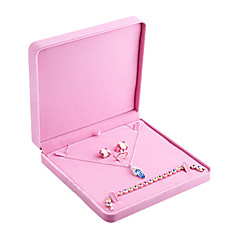 Pink Women's Classic Cubic Large Jewelry Box
