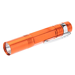 Smiling Shark SS-705 Single-Mode LED Flashlight with Clip (1xAAA, Orange)