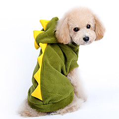 Dog Costume / Hoodie / Outfits Red / Green Dog Clothes Winter / Spring/Fall Animal Cosplay / Halloween