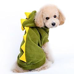 Hunde Kapuzenshirts Grün Winter Tier
