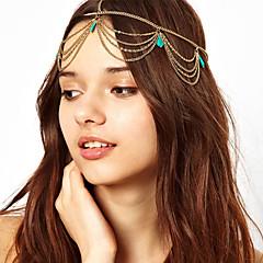 Bohemien Φούντες Τυρκουάζ headband
