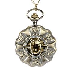 Unisex flor del hueco de la cubierta de la vendimia de la aleación del cuarzo de bolsillo del análogo