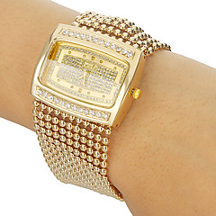 Women's Diamante Case Alloy Band Bracelet Watch Cool Watches Unique Watches