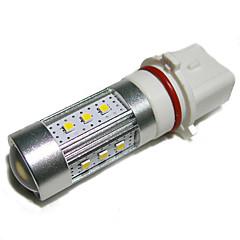 P13W 15W 700lm 6500K 15-2323 SMD LED White Light Car Ajovalojen - Silver + valkoinen (10 ~ 30V)