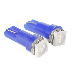 T10 0.2W 1x5050SMD 14LM White / Blue Light LED-lamppu auton (DC 12V, 2kpl)