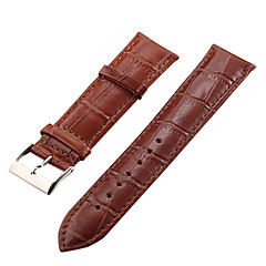Unisex 22 millimetri coccodrillo del cuoio di grano Watch Band (colori assortiti)