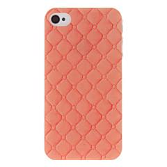 Grid Pattern Orange Hard Case for iPhone 4/4S