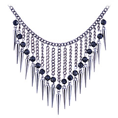 European Style  Retro Beads  Tassels Rivet Alloy Necklace