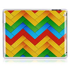 Bølgelinjemønster plast tilbake tilfelle for iPad 2/3/4