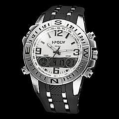 Homens Multi-Funcional de Aço Estilo militar Round Dial Rubber Band analógico-digital relógio de pulso (cores sortidas)
