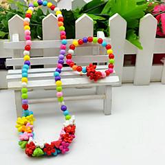 Sieraden set Acryl Bloemvorm Zonnebloem Regenboog Schermkleur Feest 1 Set 1 Ketting 1 Armband Giften van het Huwelijk