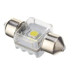 Festoon 5W 350LM 6000K Cool White Light Bulb LED para carro (DC 12V, 31 milímetros, 1pcs)
