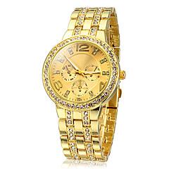 ウィメンズディアマンテ金合金バンドクォーツアナログ腕時計のダイヤル