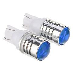 T10 1.5W 3x7020SMD 105LM Blue Light LED Bulb for Car (DC 12V,2pcs)