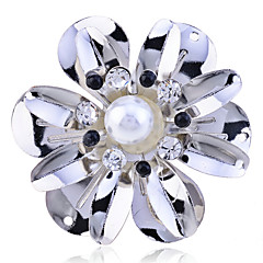 Korean Crystal Several-Petal Paster Pearl Ring