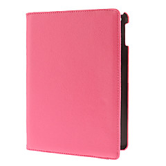 360 Degree Rotating Rose PU Full Body Case with Stand for iPad Air