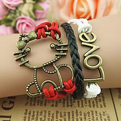 Women's Cat Pattern LOVE Bracelet