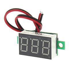 "V20D 0,56 ""-LED Twee Lijn 3-Digital Direct-Current Voltmeter Meter Module - Wit + Groen (DC 2,5 ~ 30V)"