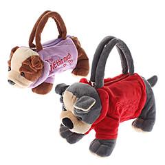 Animal Design Plush Toys Soft Zipper Bag (Random Color)