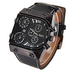 OULM® Men's Watch Military Dual Time Zones Multi Function Cool Watch Unique Watch Fashion Watch