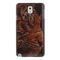Leopard Pintura Padrão Alumínio Hard Case Voltar para Samsung Galaxy Note3 N9000