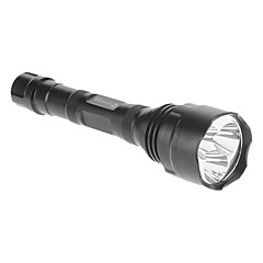 ANOWL AF600 5-Mode 3xCree XM-L T6 LED Flashlight (3000LM, 2x18650, Black)