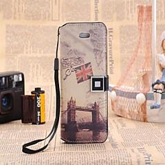 Teste padrão de luxo Carteira de Couro para iPhone 5/5S (cores sortidas)