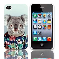 Lovely Koala Pattern Hard Case 3-Pack Näytön suojainten iPhone 4/4S