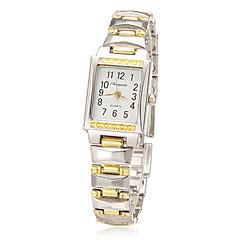 Rectángulo de la Mujer Dial venda de la aleación de cuarzo analógico reloj de pulsera