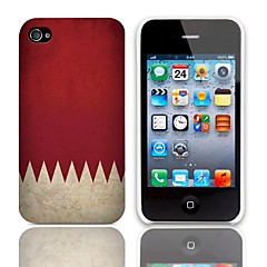 Vintage Flag Pattern Hard Case with 3-Pack Screen Protectors for iPhone 4/4S