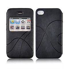 abcd234 Angibabe Flip PU Leather Business Case with Dormancy sleep function for iphone 4 4S