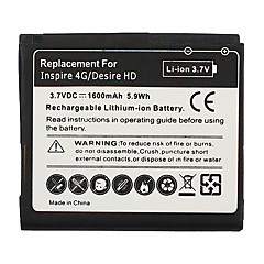 1600mAh Cell Phone Battery for HTC inspire 4G/desire HD
