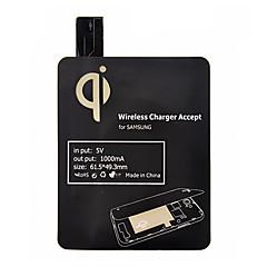 Μαύρο Πρότυπο Qi Ασύρματη Φόρτιση Δέκτης Pad για Samsung Galaxy S4