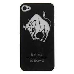 Bullfight Pattern Flashing Designed Hard Case for iPhone 4/4S