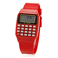 Unisex Rectangle Dial Rubber Band Lcd Digital Sport Watch (Random Color) Cool Watches Unique Watches