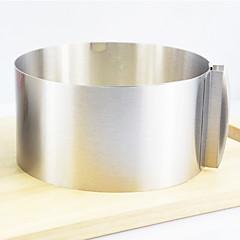 Retrátil Círculo Bolo Ring, aço inoxidável Diâmetro :16-30 centímetros Altura: 8,5 centímetros