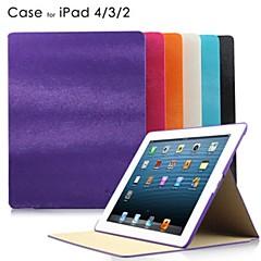 Mus Lines PU lærveske med stativ for iPad2/3/4