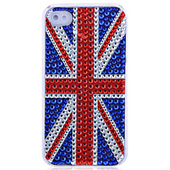 Union Flag Pattern Jewelry Covered Back Case for iPhone 4/4S