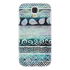 Gröna Stripes målning mönstrar plast Hard Back Case Cover för Samsung Galaxy S4 I9500