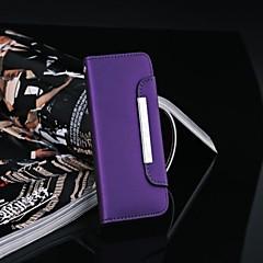 Caso del modello di lusso del cuoio del raccoglitore per il iPhone 5/5S (colori assortiti)
