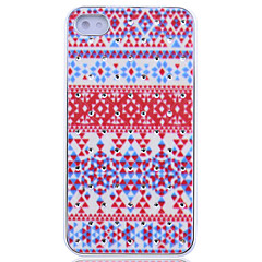 Rhombus Jigsaw Jewelry Covered Pattern Back Case for iPhone 4/4S
