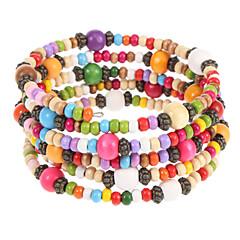 Fashion 6Cm Women'S Multicolor Wood Wrap Bracelet(Multicolor)(1 Pc)