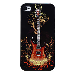 Guitar on Fire Pattern Aluminous Hard Case for iPhone 4/4S