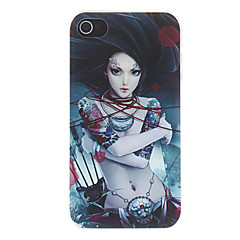 Swordswoman with Hair Flutter in the Air Pattern Matte Designed PC Hard Case for iPhone 4/4S
