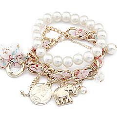 Korea Style Elephant Pearl Bracelet(Random Color)