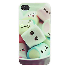 Lovely Cartoon Marshmallow Pattern Matte Designed PC Hard Case for iPhone 4/4S