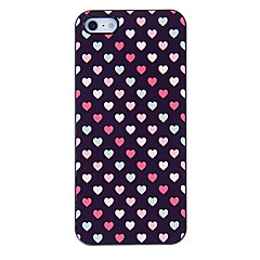Small Colorful Hearts Pattern Aluminous Hard Case for iPhone 5/5S
