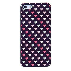 Pequeno teste padrão colorido corações Hard Case para iPhone 5/5S Aluminous